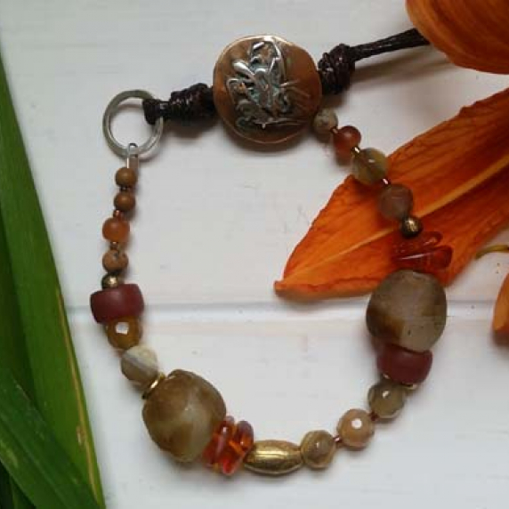 Amber and browns bracelet