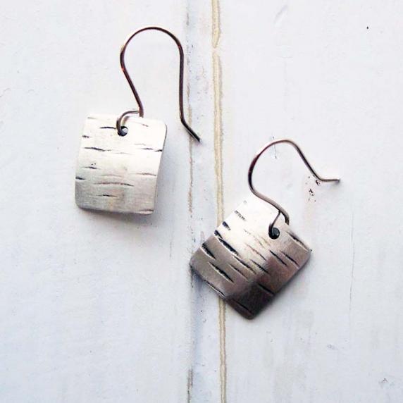 sterling square earrings