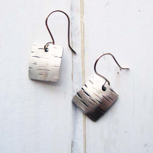 sterling square earrings